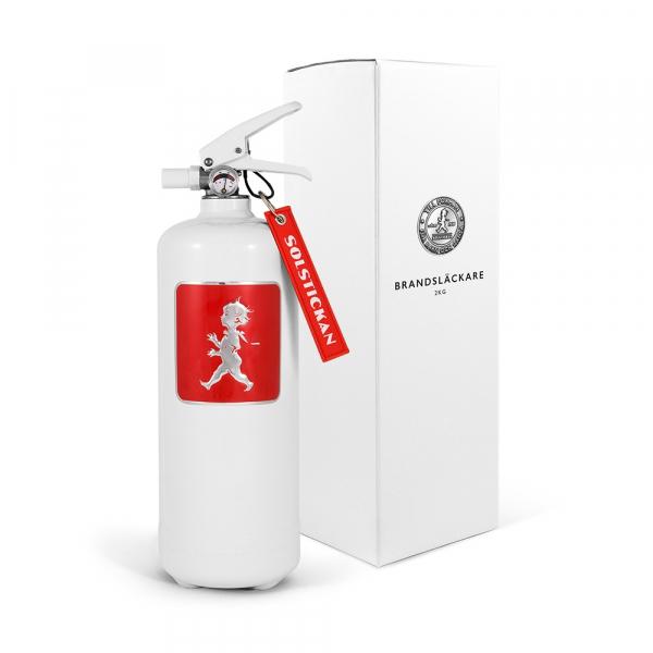 Solstickan brandsläckare vit/röd
