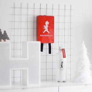 Solstickan design röd brandfilt