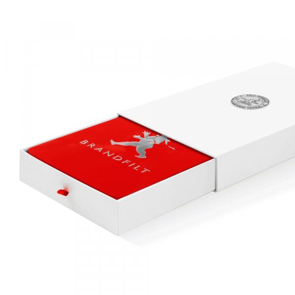 Solstickan röd brandfilt låda