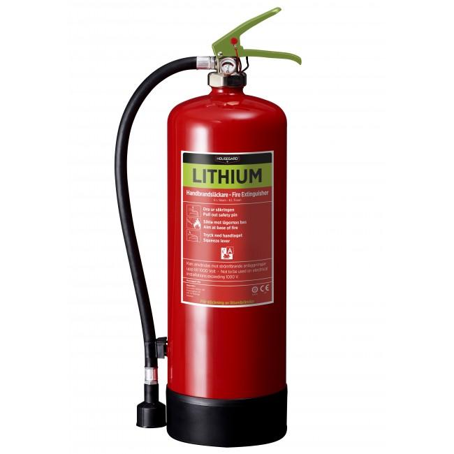 Lithium brandsläckare för batterier