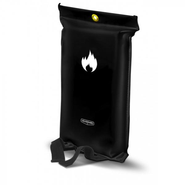 svart brandfilt