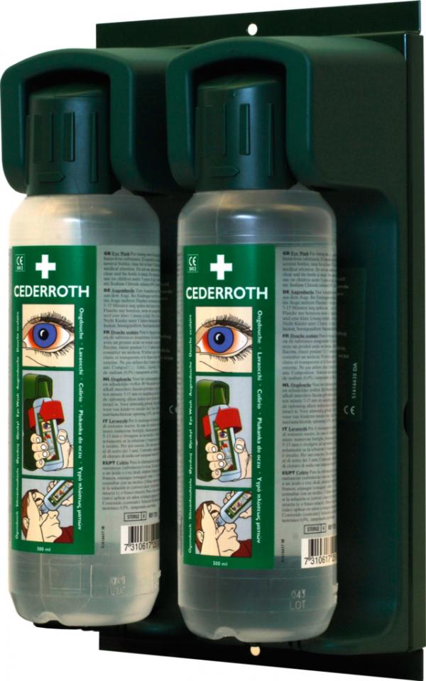 vägghållare ögondusch två flaskor