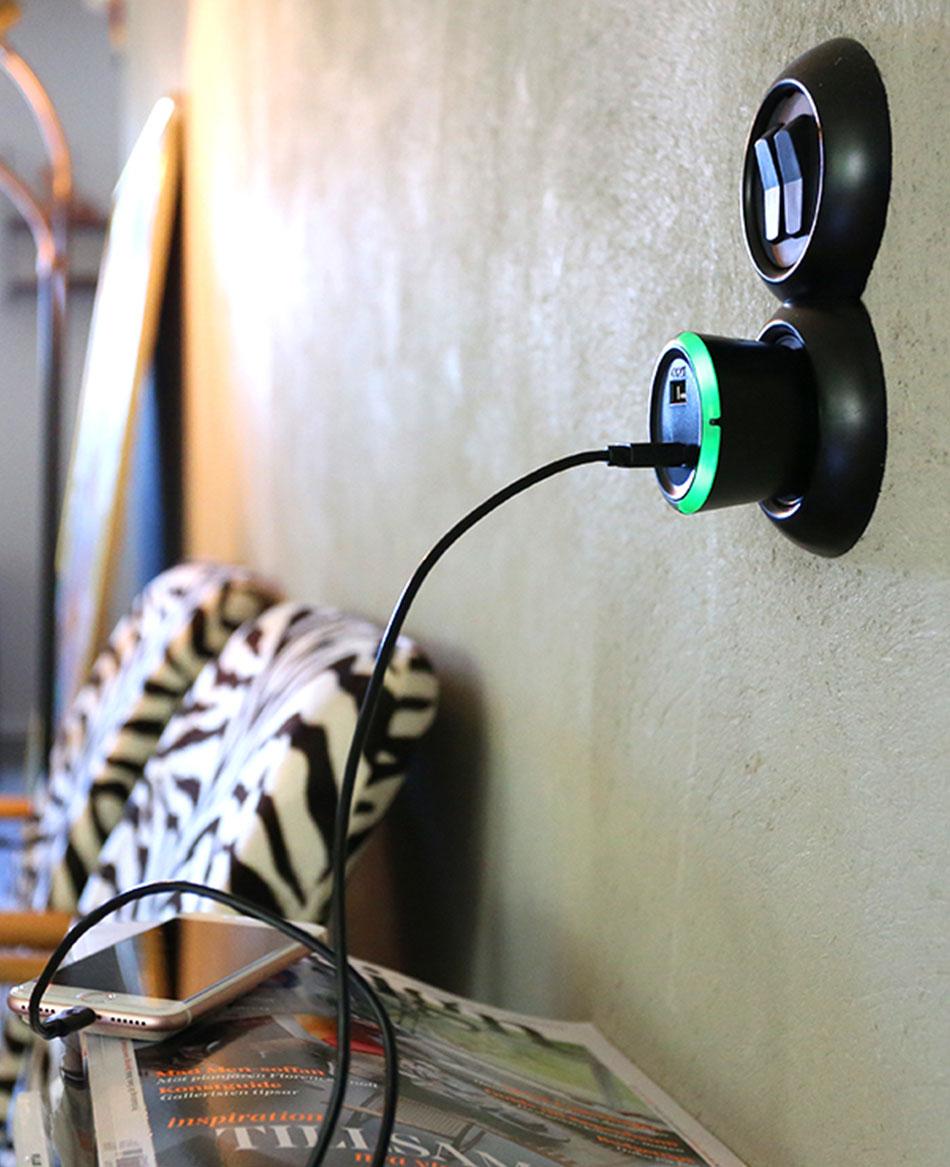 USB säkerhetstimer för mobil och surfplattor svart (CAPiDi)