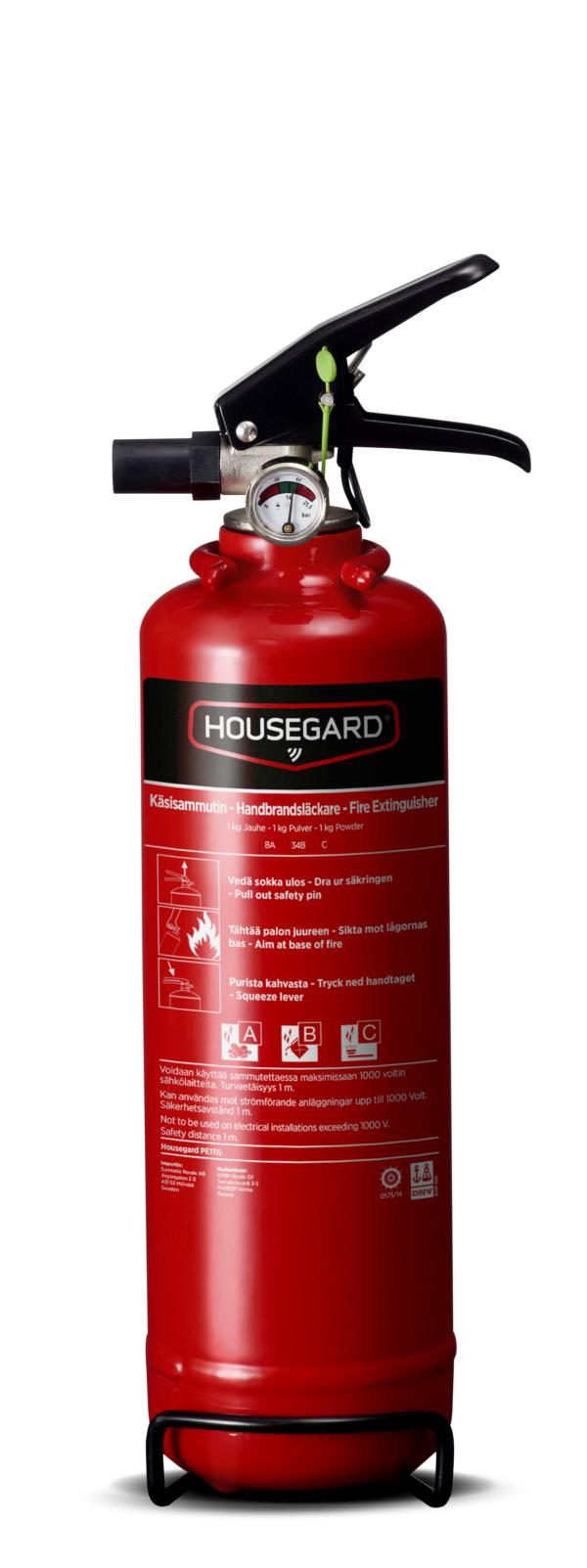 Housegard pulversläckare 1 kg