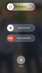 Medicinskt ID låst skärm