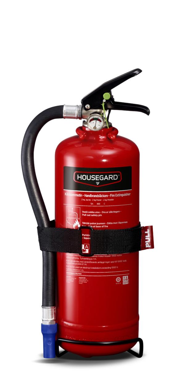 Housegard pulversläckare 2 kg