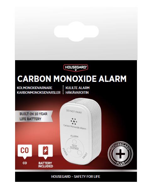 Kolmonoxidvarnare 10 års batteri