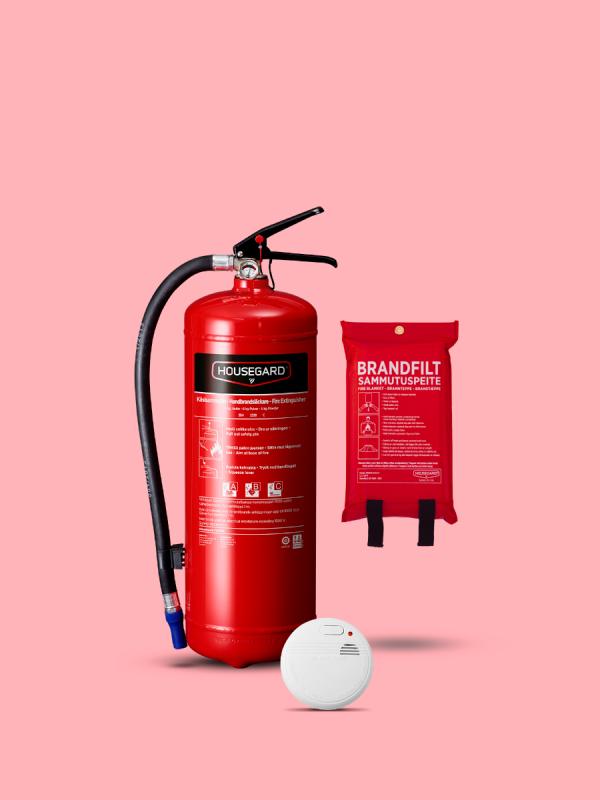lilla brandskyddpaketet röd