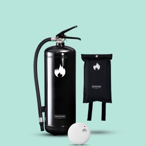 lilla brandskyddpaketet svart