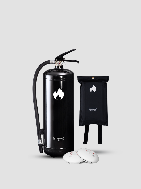 mellanstora brandskyddspaketet svart
