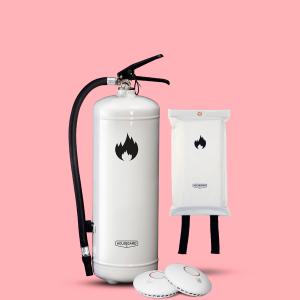 mellanstora brandskyddspaketet vit