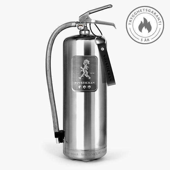 Solstickan brandsläckare 6 kg - design steel Edition