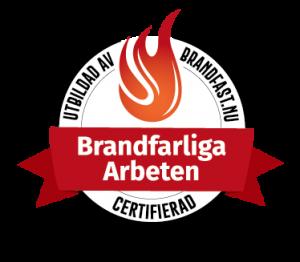 Certifikat brandfarliga arbeten
