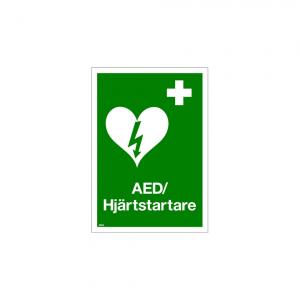 Nödskylt hjärtstartare AED