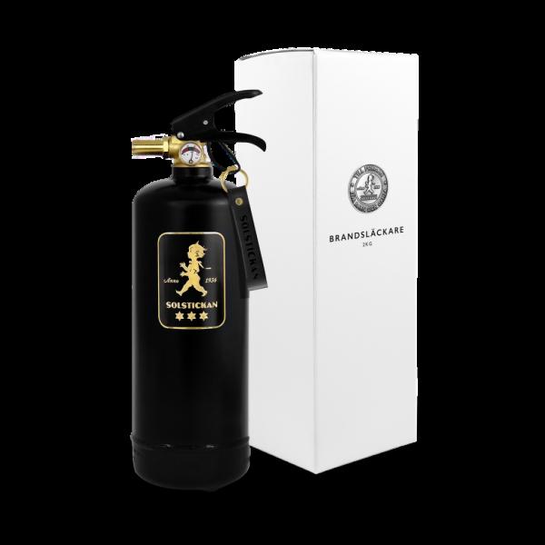 Solstickan brandsläckare svart/guld 2kg
