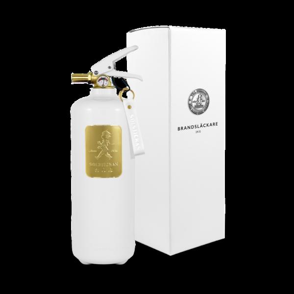 Solstickan brandsläckare vit/guld 2kg