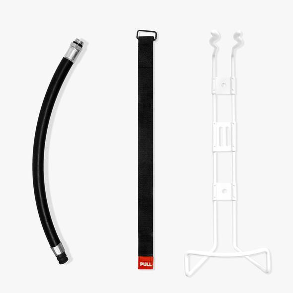 Brandsläckare slang, spännband och hållare