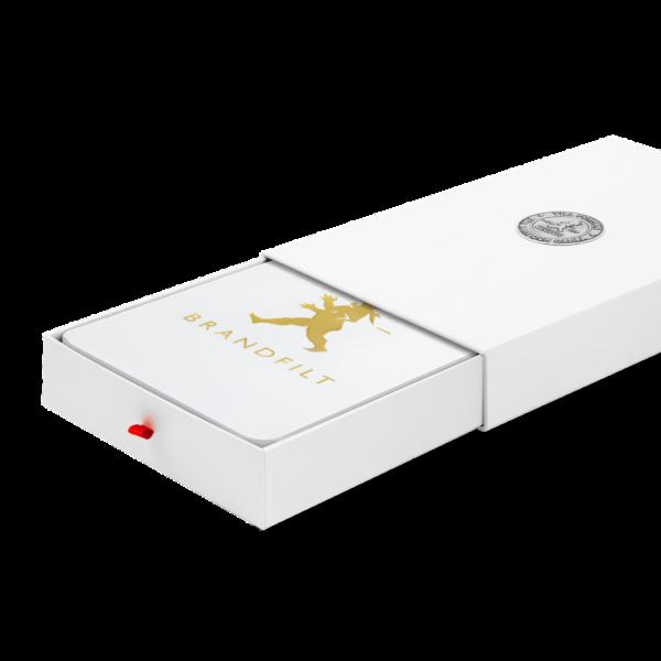 Solstickan brandfilt vit/guld