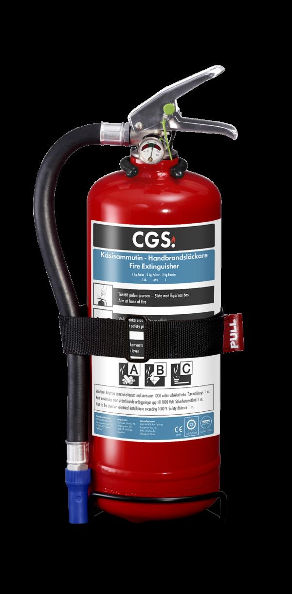 CGS 2 kg pulversläckare